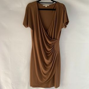 Boston Proper Dress Brown Wrap Style Size 14
